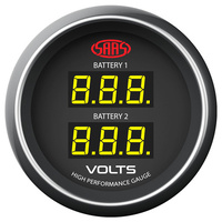 Dual Volt Gauge - Black Muscle Series